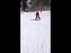 Antonia first skiing