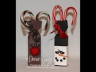 Rudolph Candy Cane Box Envelope Punch Board with Dawn