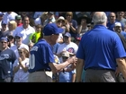 TB@CHC: 100-year-old Cubs fan delivers the game ball