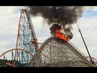 La montagne russe Twisted Colossus prend feu à Six Flags Magic Mountain [2014]