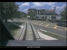Train cam footage of Florida crash
