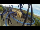 Batman the Ride - BACKWARDS POV Six Flags Magic Mountain