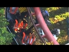 Riders Stranded on Ninja Roller Coaster Ride Six Flags Magic Mountain in Valencia, California