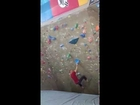 Gravity Climbing Gym - Red Boulder Problem - (v4/5?) - Fail