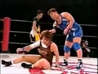 Headscissor figure 4 and sleeper. Wrestling leg locks. Submission holds. Japanese pro wrestling