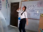 Beautiful College Girl Dancing in Classroom - Chikni Chameli