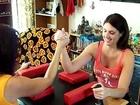 BETTY BICEP GIRLS Monique vs. Bree Arm Wrestling