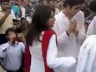 Pakistani  college girls dance with boys Public Place