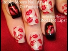 2 Nail Art Tutorials | DIY Easy Nail Art for Beginners | Red Hot Kiss Nails